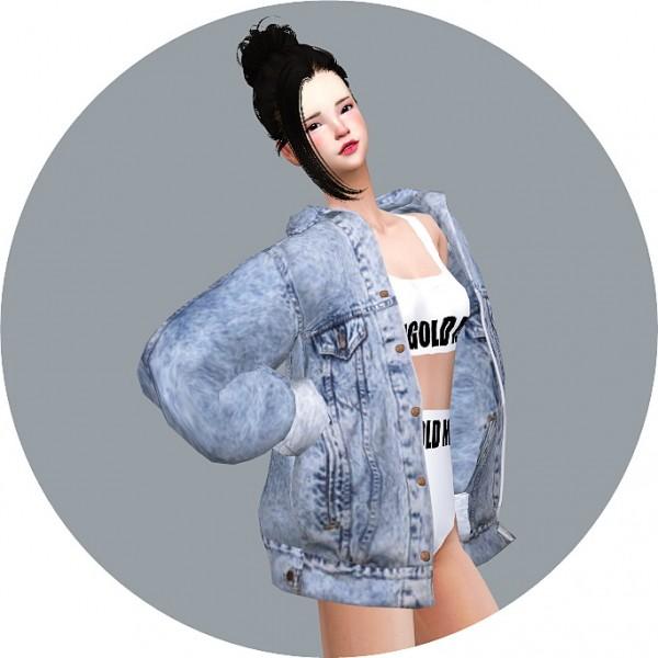 Sims 4 jean jacket cc