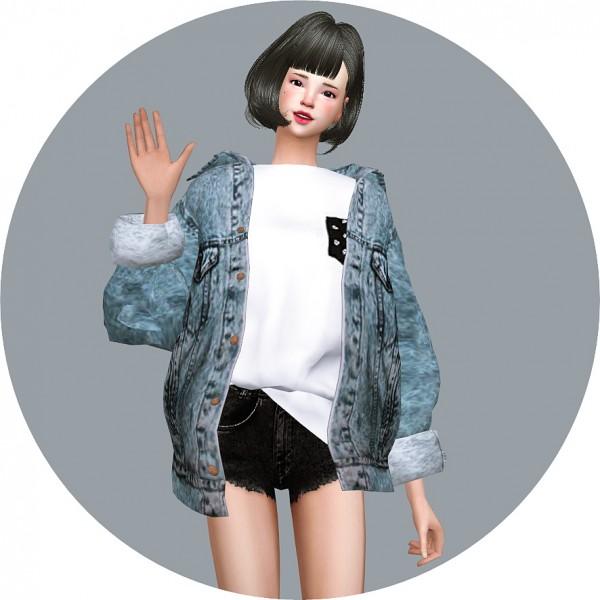 Sims 4 cc jeans jacket