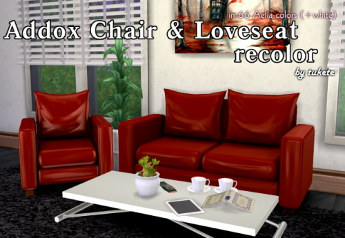 Tukete: Addox Chair and Loveseat Recolor