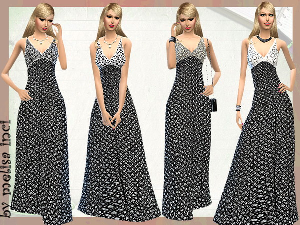 The Sims Resource: Boho Blossom Maxi Dress by melisa inci