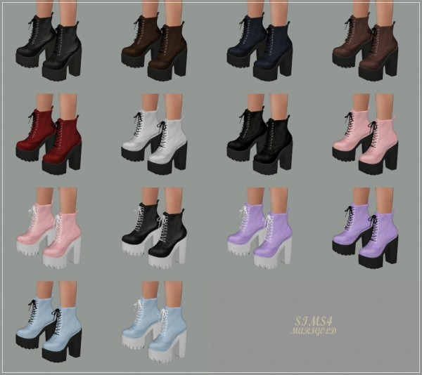 Sims4 Marigold Chunky Combat Boots Sims 4 Downloads