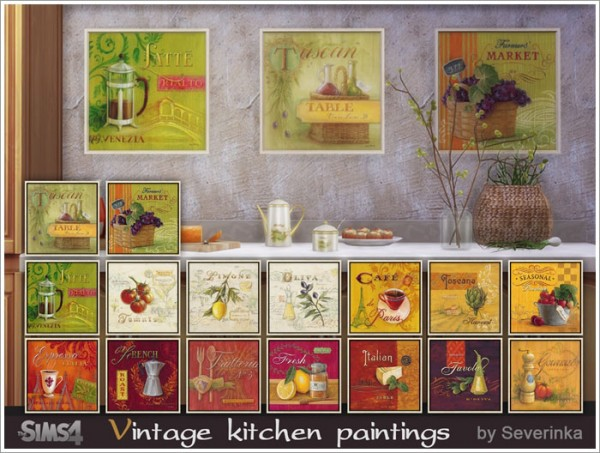 Sims by Severinka: Vintage kitchen painting