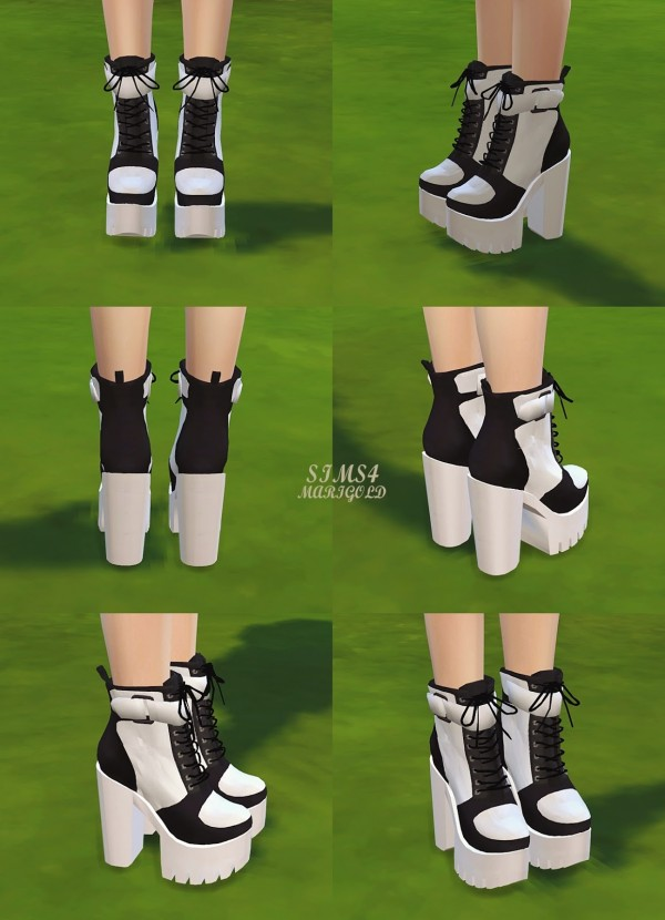 Sims4 Marigold Chunky Sneakers Heels Sims 4 Downloads