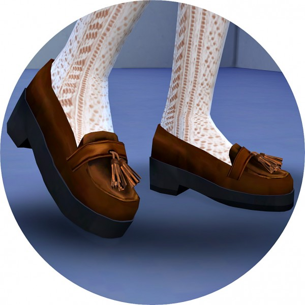 SIMS4 Marigold: Tassel Platform Heels