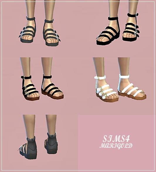 SIMS4 Marigold: Male Sandal
