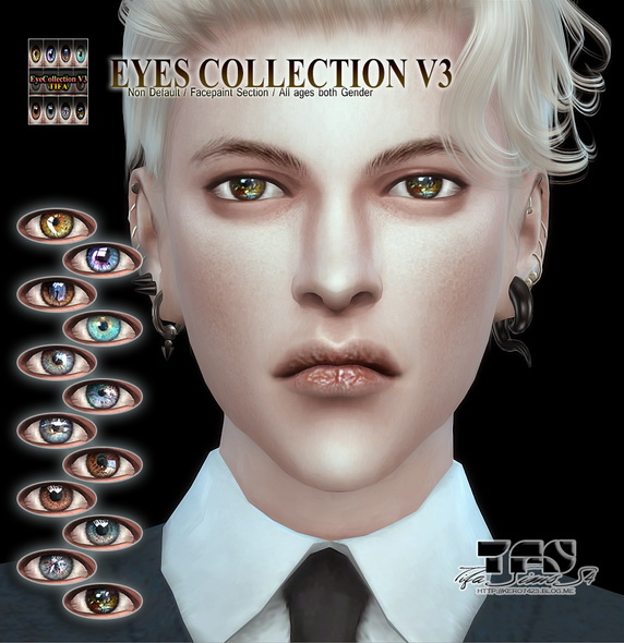 Tifa Sims: Eyes collection V3
