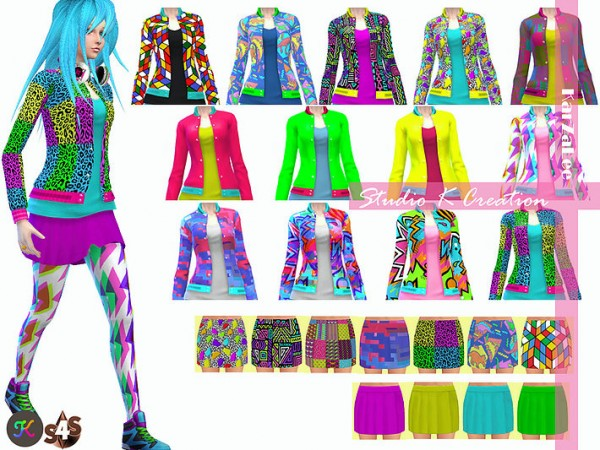 Studio K Creation: TOP acc BOTTOM female  90s Neon Mix & match