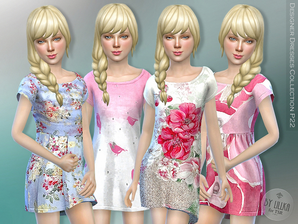 The Sims Resource: Designer Dresses Collection P22 by Lillka