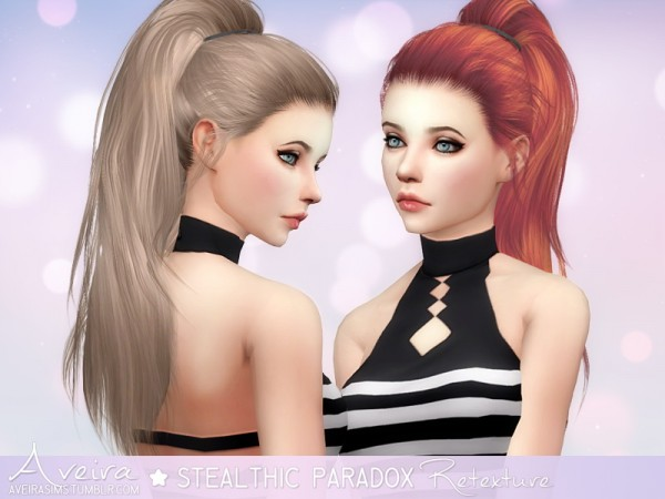 Aveira Sims 4: Stealthic Paradox hairstyle retextured
