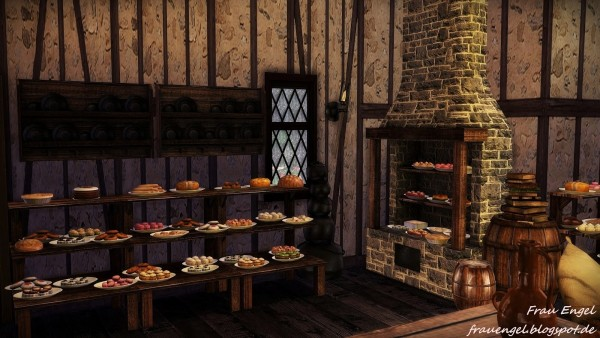 Frau Engel: Medieval Bakery • Sims 4 Downloads