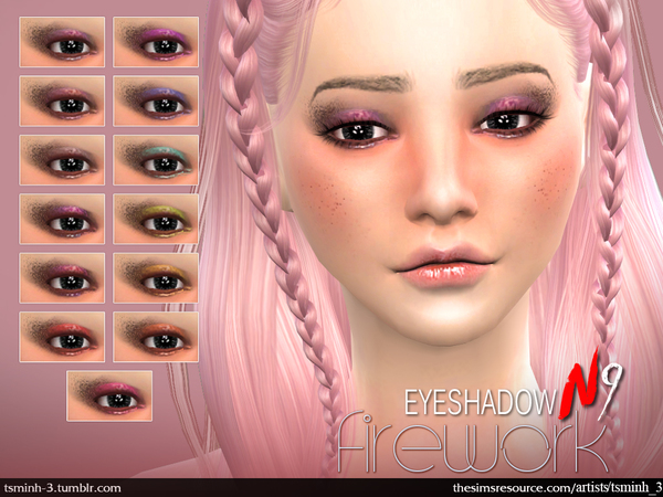 The Sims Resource: Firework Eyeshadow by tsminh 3