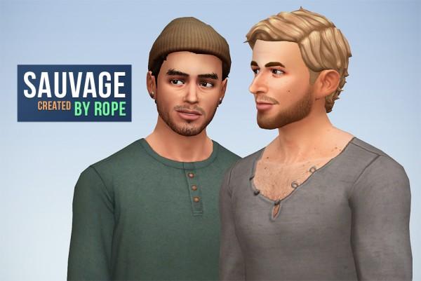 Simsontherope: Sauvage hairstyle