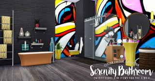 Simsational designs: Serenity Bathroom Set