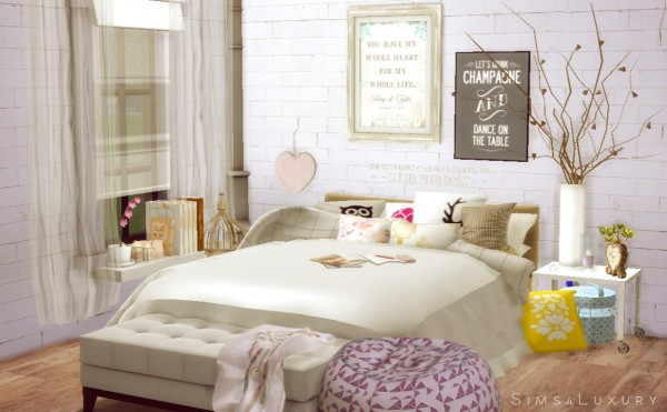 sims4luxury interior cocooning part 1 bedroom sims 4 downloads