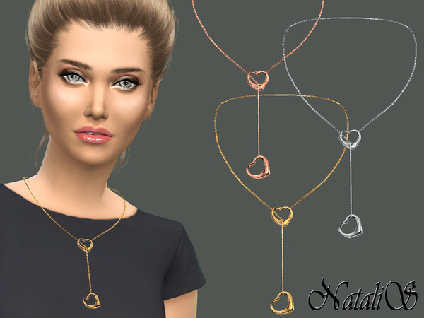 The Sims Resource: NataliS Double heart necklace by NataliS