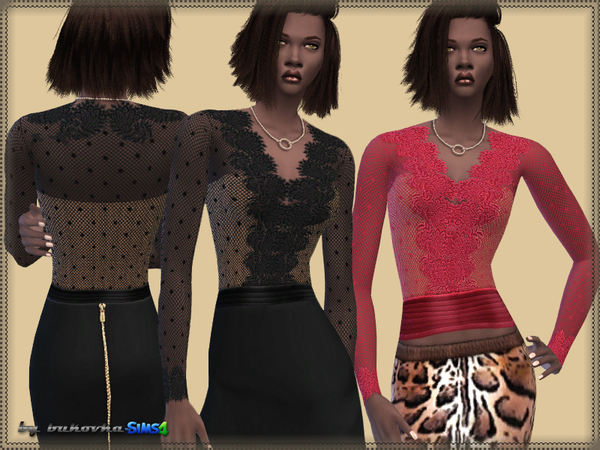 The Sims Resource: Top & Neckline by bukovka