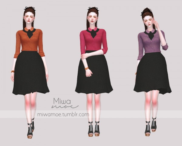 Miwamoe: Bouffant Dress with Jacket