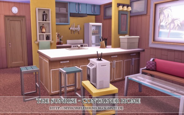Homeless Sims: The Sunrise   Container home