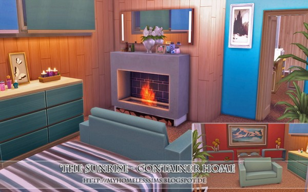 Homeless Sims The Sunrise Container Home Sims 4 Downloads