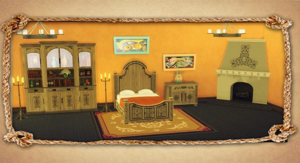 Sims 4 Designs: Hacienda Luxury Set converted from TS3 to TS4