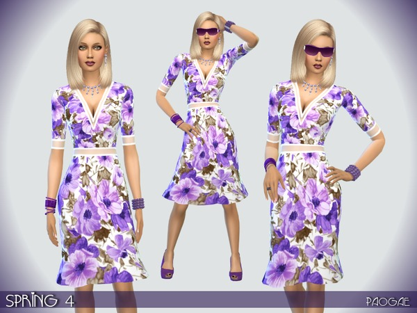 The Sims Resource: Spring 4 dress by Paogae