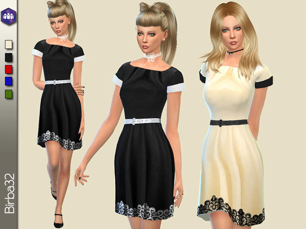 The Sims Resource: Get Together Black dress by Birba32