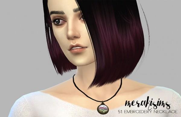 Merakisims: 51. Embroidery necklace