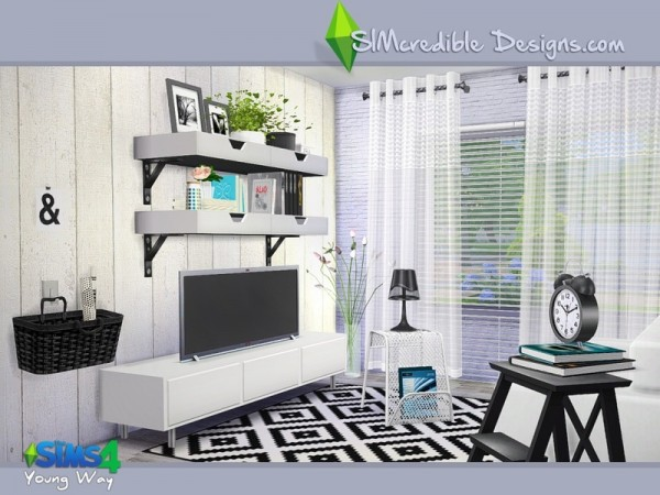 The Sims Resource Young Way Living By Simcredible Sims
