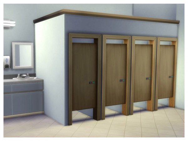 Mod The Sims Simple Toilet Stall Door By Menaceman44
