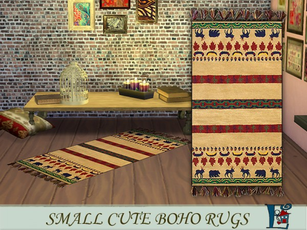 The Sims Resource: Small cute boho rugs by evi
