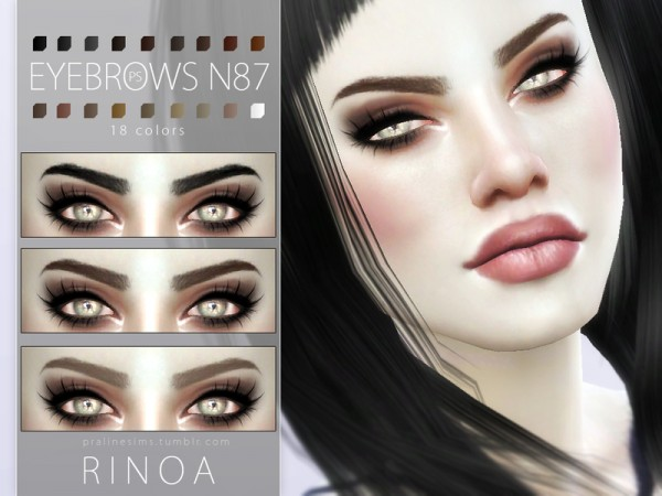 The Sims Resource Eyebrow Pack N12 By Pralinesims Sims