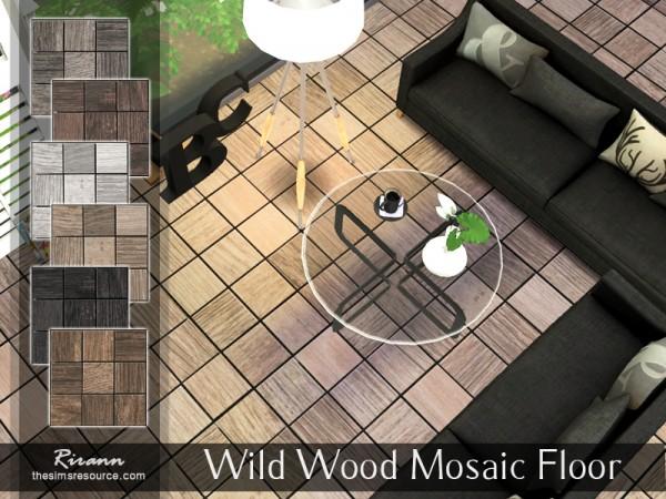 The Sims Resource: Wild Wood Mosaic Floor by Rirann