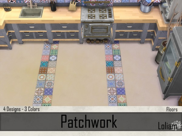 The Sims Resource: Set Patchwork Tiles by LoliamSims