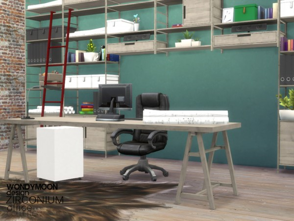 The Sims Resource: Zirconium Office by wondymoon