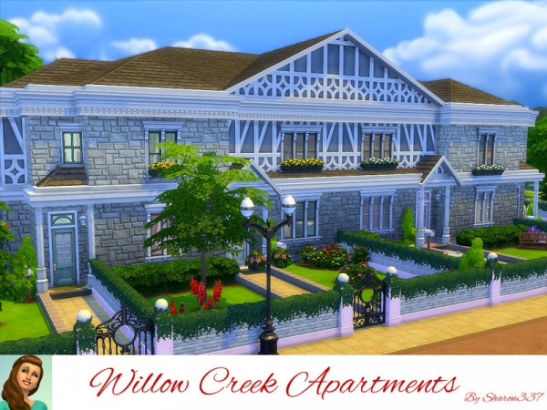 The sims resource willow creek apartments by sharon337 for Willow creek mansion