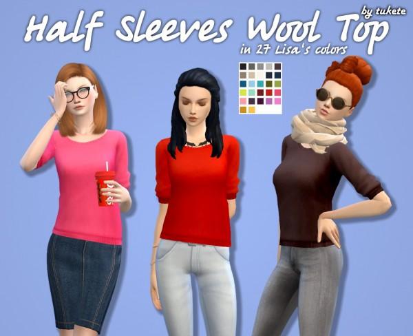 Manueapinny: Half Sleeves Wool Top Recolors