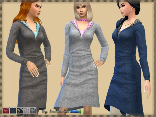 The Sims Resource: Jersey Dress by Bukovka