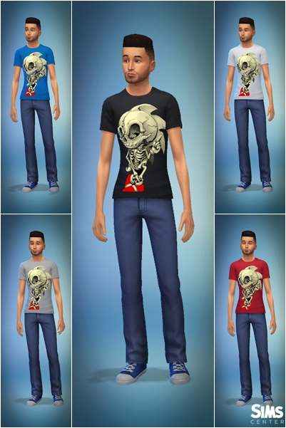 Sims Center Sonic T Shirt Sims 4 Downloads
