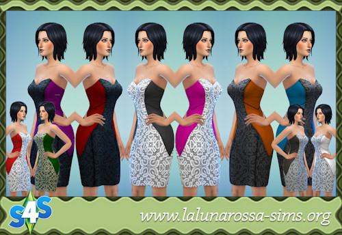 La Luna Rossa Sims: Dress Panels