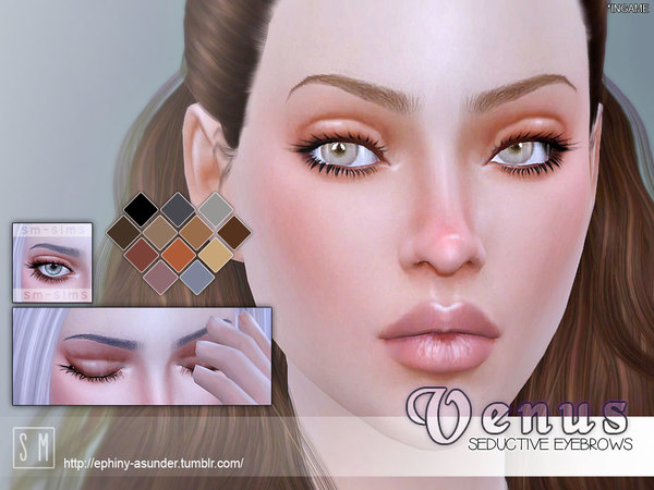 The Sims Resource: Venus   Seductive Brows by Screaming Mustard