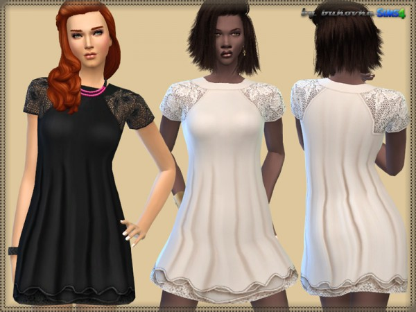 The Sims Resource: Gold Dress by Birba32