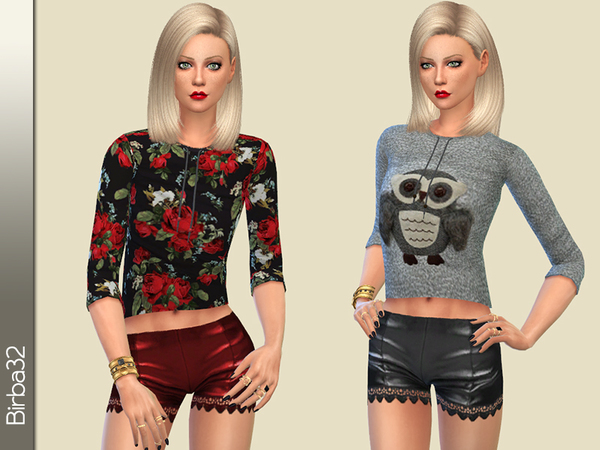 The Sims Resource: Flowers and owls by Birba32