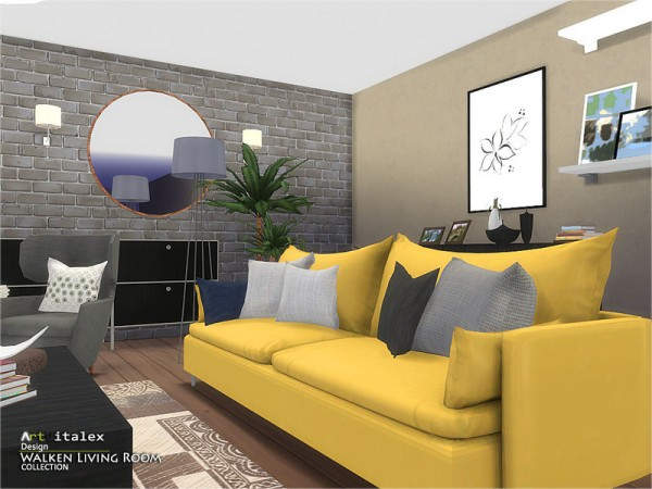 The Sims Resource Walken Living Room By Artvitalex Sims
