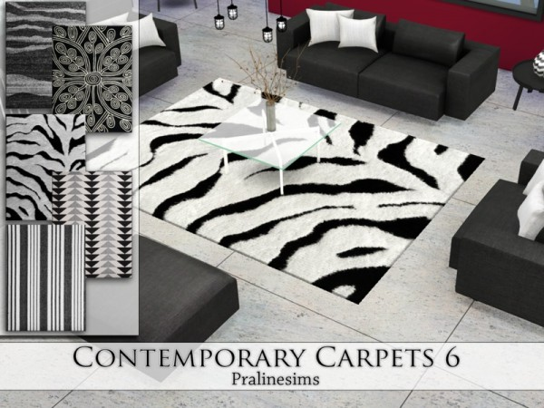 The Sims Resource: Contemporary Carpets 6 by Pralinesims