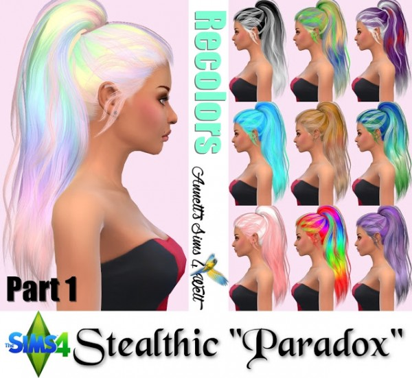 Annett`s Sims 4 Welt: Stealthic Hair Paradox Recolors