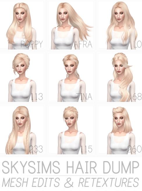 Miss Paraply: Skysims hairstyle retextured