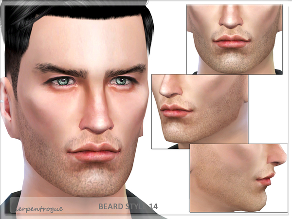 The Sims Resource: Beard Style 14 by Serpentrogue