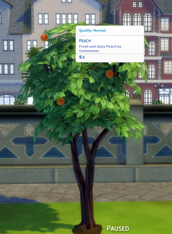 Mod The Sims: Harvestable Peach Tree by icemunmun