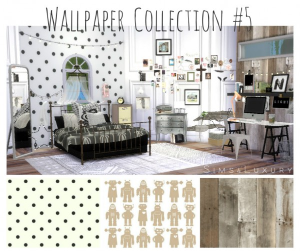 Sims 4 Cc S The Best Windows And Door Decor By Maximss: Sims4Luxury: Wallpaper Collection 5 • Sims 4 Downloads
