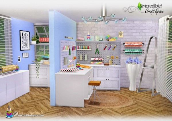 simcredible designs  craft space  u2022 sims 4 downloads